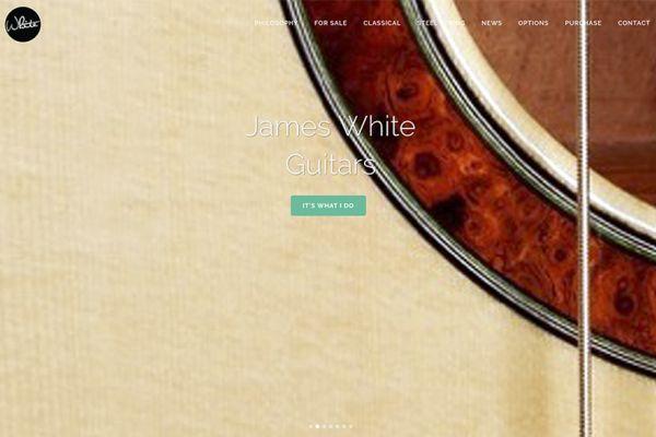 James White Guitars Home Screen - web copy