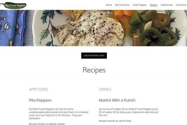 Recipes Screen - web