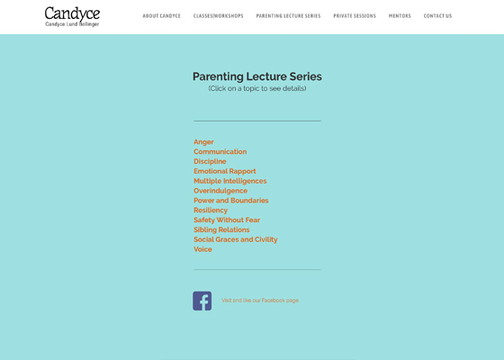 Candyce parental lecture series
